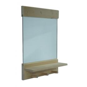 Зеркало с полочкой и вешалками